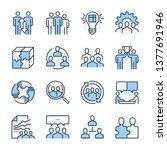 team management theme icon set. ...   Shutterstock .eps vector #1377691946