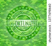 unfortunately green emblem.... | Shutterstock .eps vector #1377698660