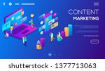 isometric 3d website app... | Shutterstock .eps vector #1377713063
