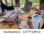business adviser analyzing... | Shutterstock . vector #1377718913