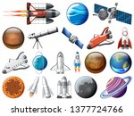 set of space objects... | Shutterstock .eps vector #1377724766