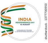 independence day india  vector... | Shutterstock .eps vector #1377730553