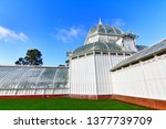 Small photo of San Francisco, California, USA-19 February 2015:The Conservatory of Flowers building at the Golden Gate Park. It is one of the largest conservatories built of traditional wood and glass