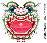 thai traditional mask  hua khon ...   Shutterstock .eps vector #1377745946