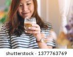 closeup image of a beautiful... | Shutterstock . vector #1377763769