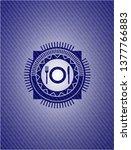 restaurant icon inside emblem... | Shutterstock .eps vector #1377766883