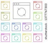 arrow  reload multi color icon. ...