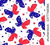 Seamless Pattern With Tricolor...