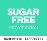 vector sign sugar free with... | Shutterstock .eps vector #1377769196