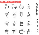 drink line icon set  design... | Shutterstock .eps vector #1377771083