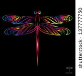 Vector Image Of An Dragonfly O...