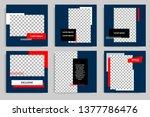 editable modern minimal square... | Shutterstock .eps vector #1377786476