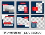 editable modern minimal square... | Shutterstock .eps vector #1377786500
