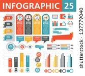 infographics elements 25 | Shutterstock .eps vector #137779040