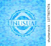 unusual light blue mosaic emblem | Shutterstock .eps vector #1377807476