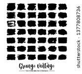 set of black brush stroke and... | Shutterstock .eps vector #1377808736