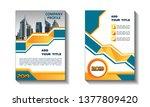 business abstract vector... | Shutterstock .eps vector #1377809420
