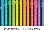 creative wall calendar 2020... | Shutterstock .eps vector #1377815999