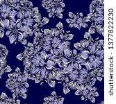 flower print. elegance seamless ... | Shutterstock . vector #1377822230