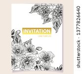 invitation greeting card with... | Shutterstock .eps vector #1377826640