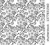 motif henna flower elemental...   Shutterstock .eps vector #1377831560