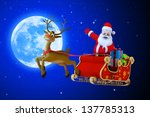 illustration of santa claus... | Shutterstock . vector #137785313
