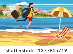 transition to vacation.... | Shutterstock .eps vector #1377855719