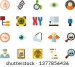 color flat icon set   angel... | Shutterstock .eps vector #1377856436