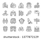 urban and city element icon set ... | Shutterstock .eps vector #1377872129