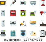 color flat icon set   washing...   Shutterstock .eps vector #1377874193