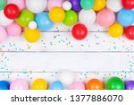Heap Of Colorful Balloons And...