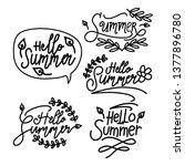 summer script text template... | Shutterstock .eps vector #1377896780