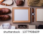 fathers day greeting card... | Shutterstock . vector #1377908609