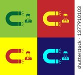 color customer attracting icon... | Shutterstock .eps vector #1377910103