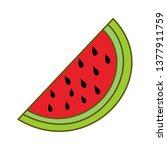 watermelon fruit template... | Shutterstock .eps vector #1377911759