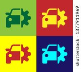 color car service icon isolated ... | Shutterstock .eps vector #1377911969