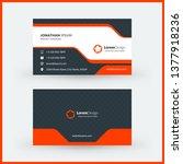 double sided horizontal modern... | Shutterstock .eps vector #1377918236