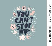inspirational girls power...   Shutterstock .eps vector #1377935789