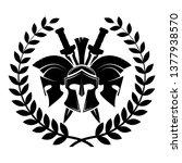 spartan helmet military symbol... | Shutterstock .eps vector #1377938570