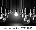 idea concept on black background | Shutterstock . vector #137794889