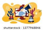 online pr concept. idea of... | Shutterstock . vector #1377968846