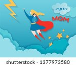 mothers day greeting card in... | Shutterstock .eps vector #1377973580