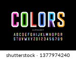 modern style colorful font... | Shutterstock .eps vector #1377974240