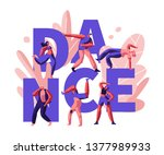 happy people clubbing and...   Shutterstock .eps vector #1377989933
