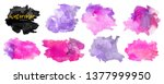 vector watercolor background.... | Shutterstock .eps vector #1377999950