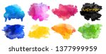 vector watercolor background.... | Shutterstock .eps vector #1377999959