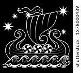 an ancient scandinavian image...   Shutterstock .eps vector #1378000439