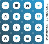 garment icons colored set with... | Shutterstock . vector #1378004213
