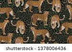 leopard seampless pattern....   Shutterstock .eps vector #1378006436
