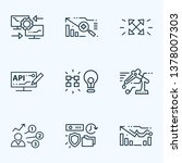 tech icons line style set with... | Shutterstock .eps vector #1378007303